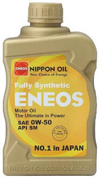 ENEOS 0W50 Fully Synthetic Motor Oil - 6qts(Case)
