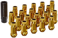 Muteki SR48 Yellow Chrome Open End Lug Nuts 12x1.25 (Gold)