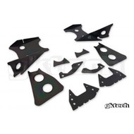 GKtech Subframe Weld in Reinforcement Plates - Nissan S14/S15/R33/R34 Version 2
