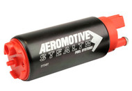 Aeromotive 340 Stealth E85 Fuel Pump, offset Inlet - inlet inline w/ outlet