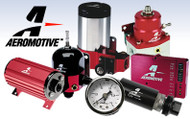 Aeromotive SS Series Billet Canister Style Fuel Filter anodized black and red