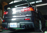 HKS Legamax axle back exhaust - EVO X