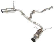 Invidia- Dual N1 Catback Exhaust Stainless Steel Tip Subaru STI Hatchback 08-13