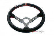 DRIVEN- 13.5 Suede Steering Wheel, 3.5in Deep