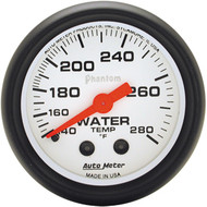 Autometer Phantom 100-250 Mechanical Water Temp Gauge