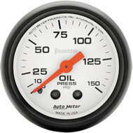 Autometer Phantom 0-150psi Mechanical Oil Pressure Gauge