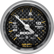Autometer Carbon Fiber Boost Gauge 30psi