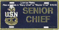 Senior Chief License Plate