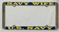 Navy Wife License Plate Frame