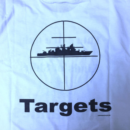Two Types of Ships, Target back, light blue