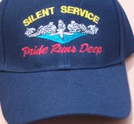 Silent Service: Pride Runs Deep Ballcaps, gold or silver dolphins