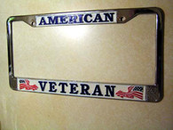 American Veteran License Plate Frame