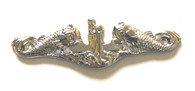 Enlisted Silver Dolphins Shiny Pin-Full Size