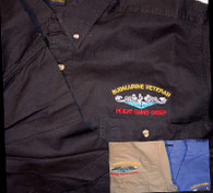 Twill Shirts: SubVet with Dolphins