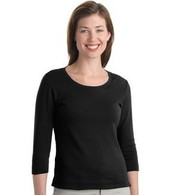 Crystal Dolphin Shirts Scoop Neck, 3/4 sleeve