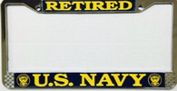 U.S. Navy Retired License Plate Frame
