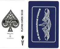 US Submarine Force Playing Cards