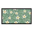 Green Plumeria Beach Towel
