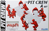 Fujimi 112442 Pit Crew Set A 1/20 Scale Kit (GARAGE & TOOL SERIES No.20)