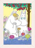 Yanoman Prism Art Jigsaw Petit Puzzle Set 97-85 Moomin & Snorkmaiden (70 Pieces)