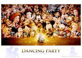 Tenyo Japan Jigsaw Puzzle D-300-284 Disney Dancing Party (300 Pieces)