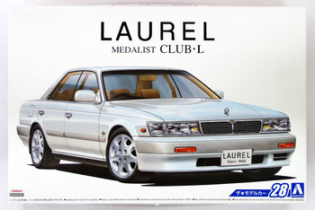 Aoshima 52341 The Model Car 28 Nissan HC33 Laurel Medalist CLUB L '91 1/24 scale kit