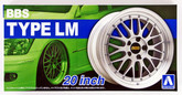 Aoshima 52754 Tuned Parts 25 1/24 BBS LM 20inch Tire & Wheel Set