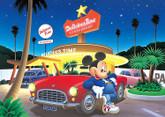 Tenyo Japan Jigsaw Puzzle D-300-287 Disney Starlight City Mickey (300 Pieces)