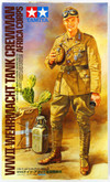 Tamiya 36310 WWII Wehrmacht Tank Crewman Afrika Corps 1/16 Scale Kit Figure