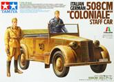 "Tamiya 37014 Italian German 508CM ""COLONIALE"" Staff Car 1/35 Scale Kit"