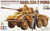Tamiya 37018 German Heavy Armored Car Sd.Kfz.234/2 Puma 1/35 Scale Kit