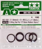 Tamiya AO-1021 O-Ring Set For 17/19mm Rollers (6pcs.) (94792)