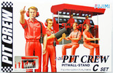 Fujimi 113326 Pit Crew Set C (Pitwall - Stand) 1/20 Scale Kit (GARAGE & TOOL SERIES No.25)