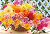 Beverly Jigsaw Puzzle M81-866 Beautiful Flowers (1000 S-Pieces)