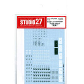 "Studio27 ST27-FP24195 Car Number Plate decal ""Kanto 1"" for 1/24 scale kit"