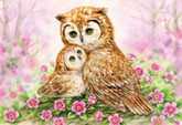 Beverly Jigsaw Puzzle 33-136 Peace Of Mind Owls Cuddle (300 Pieces)