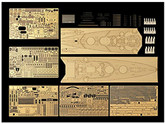 Tamiya 25181 Bismarck 1941 Detail Up Photo Etched Parts 1/350 Scale