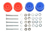 Tamiya 15457 Mini 4WD Plastic Double Rollers Low Friction Red/Blue 13-12mm