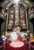 Tenyo Japan Jigsaw Puzzle D-1000-252 Disney Mickey Mouse Wedding (1000 Pieces)