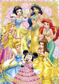 Tenyo Japan Jigsaw Puzzle D-108-705 Disney Princess & Minnie Mouse (108 Pieces)