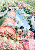 Tenyo Japan Jigsaw Puzzle D-300-245 Disney Mickey Mouse Wedding (300 Pieces)