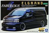 Aoshima 45619 Nissan Elgrand Fabulous Design 1/24 scale kit