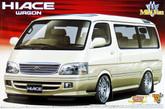 Aoshima 49372 Toyota Hiace Wagon Super Custom with option wheel 1/24 scale kit