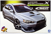 Aoshima 49013 Mitsubishi Lancer Evolution X C-West Street Ver. 1/24 scale kit