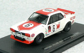 Ebbro 43241 Nissan Skyline GT-R KPGC10 Racing No.6 (White / Red) 1/43 scale