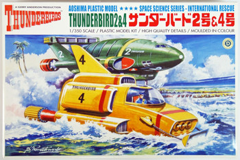 Aoshima 03602 Gerry Anderson Thunderbirds Thunderbird 2 & 4 1/350 scale kit