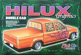 Aoshima 31773 Toyota Hilux Double Cab Graphics (Pick Up Truck) 1/24 scale kit