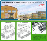 Pit-Road Skywave SW-23 Military Base (Warehouse, Barrack) 1/700 scale kit