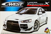 Aoshima 49006 Mitsubishi Lancer Evolution X C-West Racing Ver. 1/24 scale kit