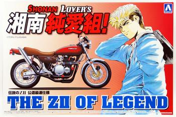 "Aoshima 05613 Shonan Lovers GTO The ZII of Legend"" Motorcycle 1/12 scale kit"""